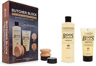 John Boos 油脂面霜 Mystery Oil, Board Cream, and Applicator Set in Gift Packaging 16 oz. Mystery Oil, 5 oz. Board Cream & Appl...
