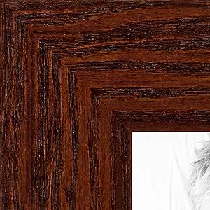"""相框,松木黑着色,3.81 cm 宽 胡桃棕色 22 x 25"""" 2WOM0066-80206-YWAL-22x25"""