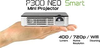 AAXA Technologies P300 Neo Smart Android Mini Pico 投影仪(2018 型号) - 便携式 LED DLP 投影仪,带安卓、WiFi、蓝牙、HDMI 适用于商务和家庭影院的便携式 LED DLP 投影仪 Android OS (New)
