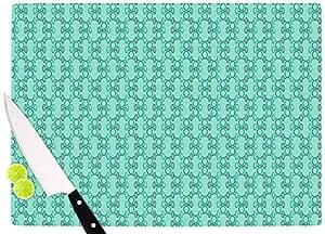 "KESS InHouse Holly Helgeson""Mod Pod 青色图案""砧板,多色 多种颜色 11.5 by 15.75"" HH1030ACB02"