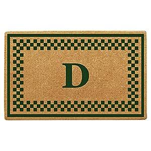 Nedia Home 交织字母 D 格纹边框加厚可可可垫,96.52 cm x 152.4 cm,*