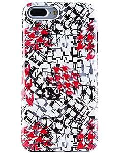 iPhone 7 Plus 手机壳,iPhone 8 Plus 手机壳,Dimaka 设计图案手机壳,2 层 PC+TPU 防震防跌落,光面超薄保护套适用于苹果 iPhone 7 Plus & 8 Plus 77