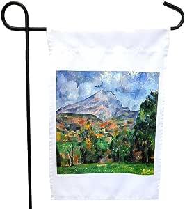 Rikki Knight 保罗·塞兹曼艺术挂架圣维多利亚,橙色屋或花园旗帜,27.94 x 27.94 cm 图像,30.48 x 45.72 cm