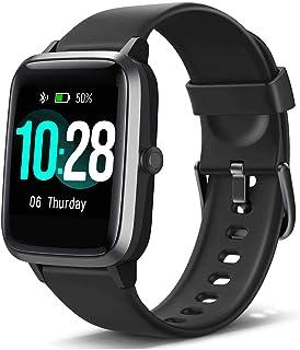 Nidiox 智能手表健身追踪器心率监测器步数卡路里计数器*监测音乐控制 IP68 防水 1.3 英寸彩色触摸屏活动跟踪计步器适合女士男士儿童