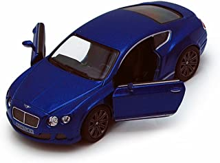 2012 Bentley Continental GT Speed, Blue - Kinsmart 5369D - 1/38 scale Diecast Model Toy Car (Brand New, but NO BOX)
