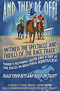 "Kentucky - 马赛复古标志 ""Multi"" 16 x 24 Signed Art Print LANT-44611-709"