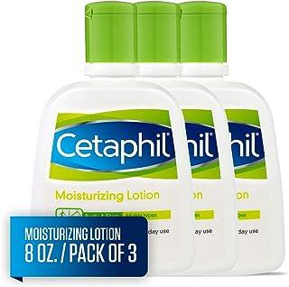 Cetaphil 丝塔芙 保湿乳液 适用于所有皮肤类型,身体和面部乳液,8液体盎司/237毫升(3件)