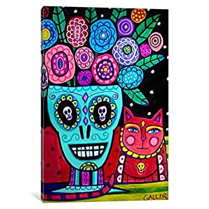 iCanvasART HGL3 Day of The Dead Flower by Heather Galler Canvas Print, 26-Inch by 18-Inch, 0.75-Inch Deep