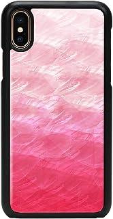 ikins iPhone XS Max 天然贝壳 Pink Lake 黑色边框 (ikins 粉红湖) 苹果手机 套 6.5英寸 无线充电对应 【日本正规代理店商品】 I15848i65