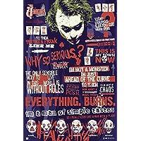 Grupo Erik Editores GPE4937 蝙蝠侠海报,黑暗骑士小丑象形,61 x 91.5 厘米