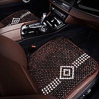 吉洋祥 夏季 香木坐垫2017款奔驰E200L E300L E260L E180L木珠座垫 菱格黑红色前排单片
