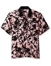 Obey 男士国会短袖系扣梭织衬衫