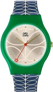 Orla Kiely 欧拉·凯利 中性成人模拟经典石英手表皮革表带 OK2224