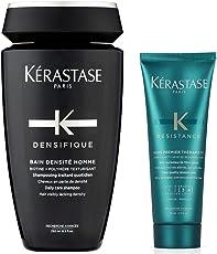 KERASTASE 卡诗 男士纤弱洗发水250ml+丝韧焕活调理乳75ml 洗护套装(进)