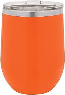 Polar Camel 12 盎司 真空隔热无温度*杯带盖 橙色