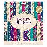 docrafts Papermania Eastern Opulence 垫,纸质,洋红色/青色/*蓝/蓝色,30.5 x 2 x 33 厘米