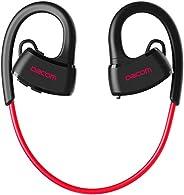 IPX7 防水无线耳机,适合运动、游泳 红色