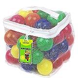 Click N' Play CNP30336 邻苯二甲酸盐 Bpa Free Crush Proof 塑料球,6 种颜色,50 只装