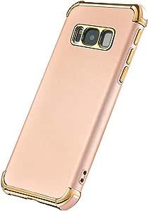 GALAXY S8PLUS 手机壳超薄弹性柔软 GALAXY S8PLUS 哑光保护套风格3合1电镀防震奢华手机壳适用于 SAMSUNG GALAXY S8PLUS 金色