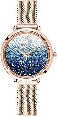 Pierre Lannier 女式模拟石英手表,纯不锈钢表带 108G968