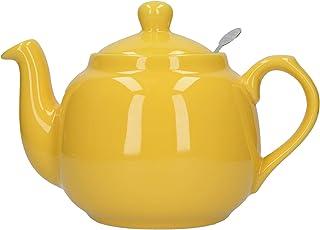London Pottery 陶瓷农舍散叶茶壶,带浸入器,陶瓷,黄色,4杯(1.2升)