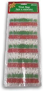 圣诞假日文字礼品零食袋 - 20 包