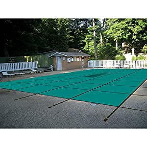 Water Warden Pool Safety Cover Solid Green 16 by 40-Feet Pool
