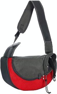 uxcell 宠物狗背带背包小狗猫背带肩可调节户外旅行野餐购物用具 红色 S