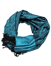 Paisley 男式女式时尚全季羊绒丝质保暖大围巾披肩