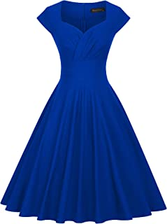 GownTown 女士连衣裙派对礼服 1950 年代复古连衣裙飘逸弹性连衣裙