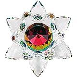 Amlong 水晶彩虹莲花图案 多种颜色 3英寸
