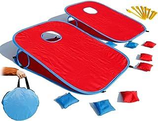 MESINURS 豆袋投掷游戏沙包套装玩具 - 节日乐趣家庭户外嘉年华丛林派对适合儿童和成人
