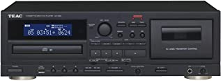 Teac AD-850(B) CD/磁带播放器(Tapedeck,CD音乐播放器,具有USB存储器的录音功能,卡拉OK功能,麦克风输入,CD-R / RW和MP3播放),黑色