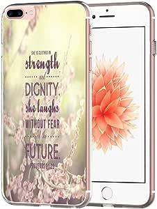 Iphone 7 Plus 手机壳交叉设计 - 主题【软 Tpu 修身保护】苹果 Iphone 7 Plus 保护套交叉主题艺术花卉保护MANGY30432 Iphone 7 Plus-21