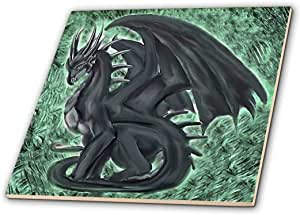 3dRose ct_4148_1 Night Dragon-Ceramic Tile, 4""