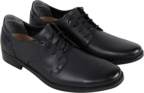 Skechers 斯凯奇 Tallowood Woodale Mens Black Leather Casual Dress Lace Up Oxfords Shoes 10
