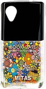 mitas 壳 硬质 印刷 *油 花 花朵图案 花朵 花NPC-2108-C/LG-D820 24_Nexus5 (LG-D820) 花C
