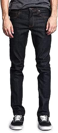 Victorious 男士修身弹力原始牛仔牛仔裤 黑色/木材 28W x 30L