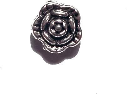 彩虹 348 件调小花朵扁平垫片 珠宝制作用具,7 毫米,银色