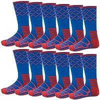 篮球网袜队束,12 双装 - Elite 篮球袜,凉爽/干爽贴身轻质压缩和性能船袜 - 成人/儿童球队运动袜