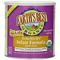 Earth's Best *敏感度婴儿*奶粉含铁 - 4 个装 - 23.2 盎司