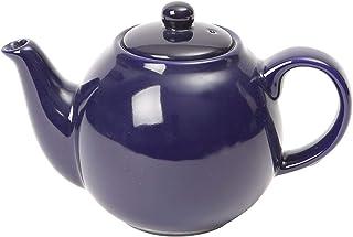 London Pottery 带滤网的地球仪陶瓷小茶壶,紫色,容量2杯(500毫升)