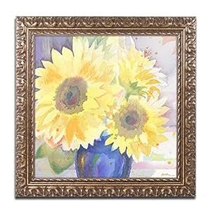 Trademark Fine Art 向日葵花花束 Sheila 金色装饰框 11x11-Inch SG5731-G1111F