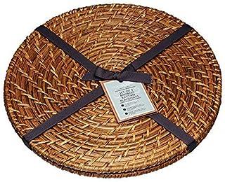 MasterClass Artesà 竹制圆形餐垫,28 厘米(11 英寸)(2 件套)