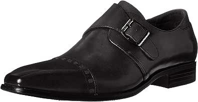 Stacy Adams 男士 Macmillian-Cap Toe 僧侣系带一脚蹬乐福鞋 黑色 7 M US