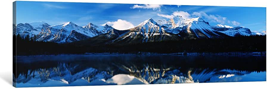 "iCanvasART 1 Piece Herbert Lake, Banff National Park, Alberta, Canada Canvas Print by Panoramic Images, 36 x 12""/0.75"" Deep"