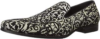 STACY ADAMS 女式 Swank 花卉丝绒叠层一脚蹬乐福鞋