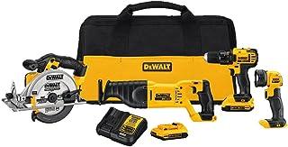 DEWALT DCK423D2 20V MAX 4 工具组合套件 DCK423D2(需配变压器)