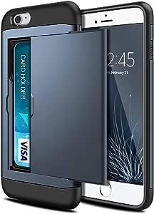 iPhone 6 超薄硬质护甲钱包手机壳 iPhone 6 / 6s *蓝