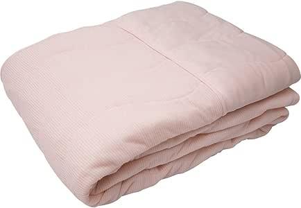 IRIS PLAZA 毛巾被 触感清凉 Qmax0.38 防臭 吸湿排湿 可清洗 凉爽被 宽140×长190厘米 单人 粉色 7099158F